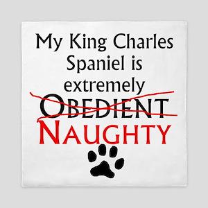 Naughty King Charles Spaniel Queen Duvet