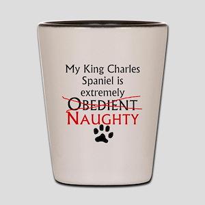 Naughty King Charles Spaniel Shot Glass