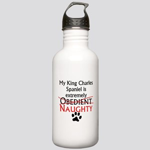 Naughty King Charles Spaniel Water Bottle