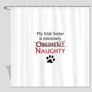 Naughty Irish Setter Shower Curtain