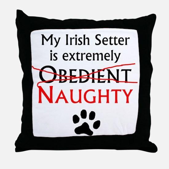Naughty Irish Setter Throw Pillow