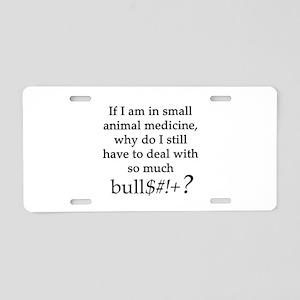 Small Animal Medicine Bull* Aluminum License Plate