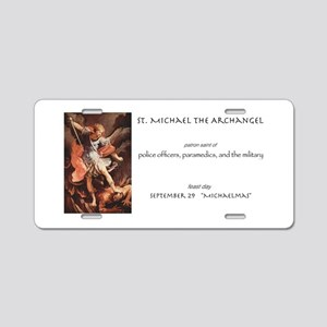 st. michael the archangel Aluminum License Plate