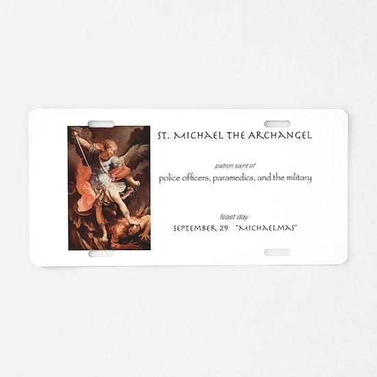 st. michael the archangel Aluminum License Plate