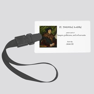 st. thomas more, patron saint of Large Luggage Tag