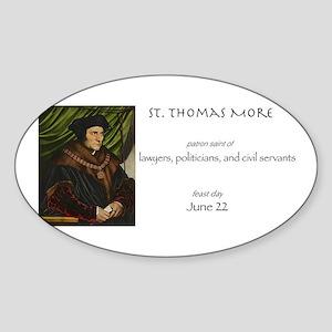 st. thomas more, patron saint of la Sticker (Oval)