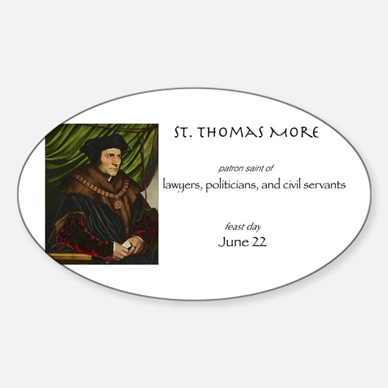 st. thomas more, patron saint of la Sticker (Oval)