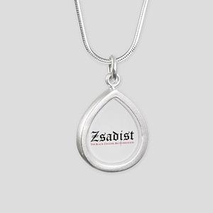 Zsadist Silver Teardrop Necklace Necklaces