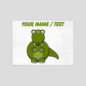 Custom Cartoon T-Rex 5'x7'Area Rug