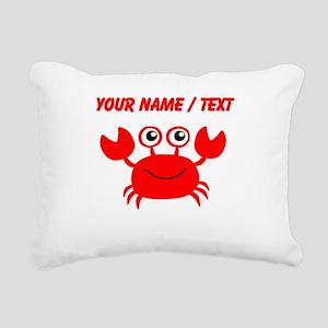 Custom Red Crab Rectangular Canvas Pillow