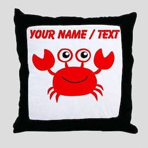 Custom Red Crab Throw Pillow