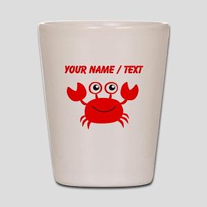 Custom Red Crab Shot Glass