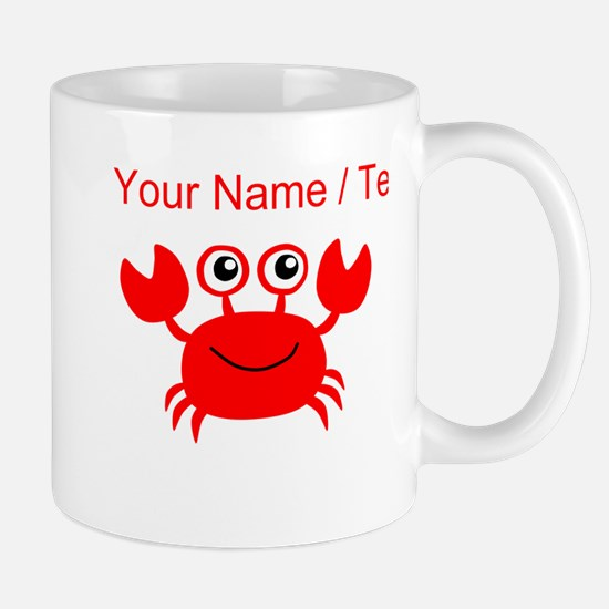 Custom Red Crab Mugs