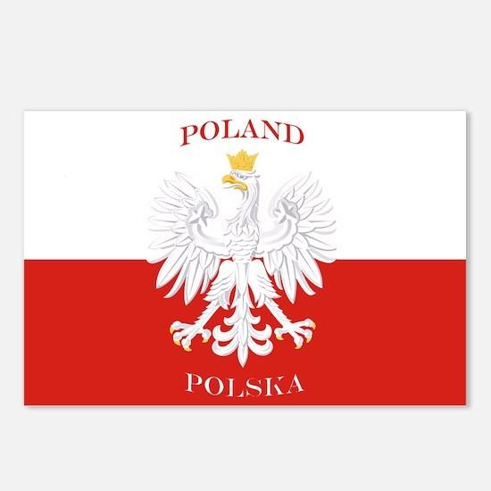 Poland Polska White Eagle Flag Postcards (Package