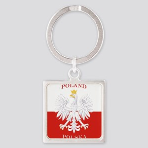 Poland Polska White Eagle Flag Keychains