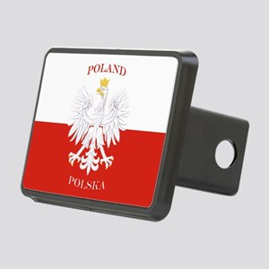 Poland Polska White Eagle Flag Hitch Cover