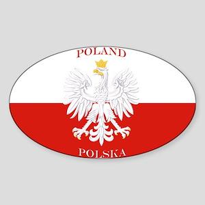 Poland Polska White Eagle Flag Sticker