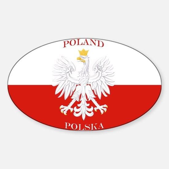 Poland Polska White Eagle Flag Decal