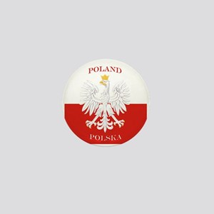 Poland Polska White Eagle Flag Mini Button