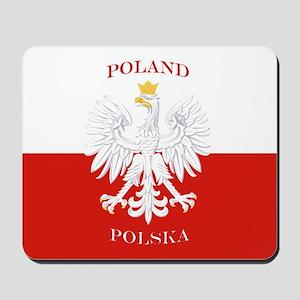 Poland Polska White Eagle Flag Mousepad