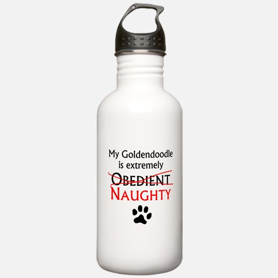 Naughty Goldendoodle Water Bottle