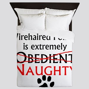 Naughty German Wirehaired Pointer Queen Duvet