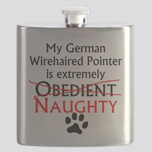 Naughty German Wirehaired Pointer Flask