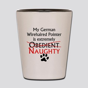 Naughty German Wirehaired Pointer Shot Glass