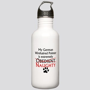 Naughty German Wirehaired Pointer Water Bottle