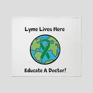 Lyme Disease Awareness Throw Blanket