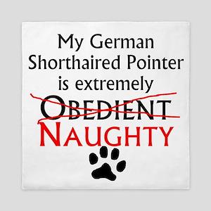 Naughty German Shorthaired Pointer Queen Duvet