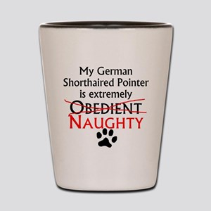 Naughty German Shorthaired Pointer Shot Glass