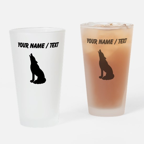 Custom Howling Wolf Drinking Glass