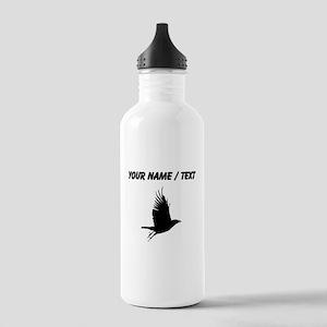 Custom Crow Silhouette Sports Water Bottle