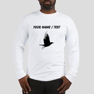 Custom Crow Silhouette Long Sleeve T-Shirt