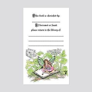 Fairy Book Plate Rectangle Sticker