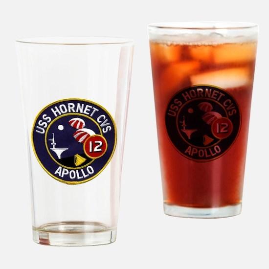 USS Hornet & Apollo 12 Drinking Glass