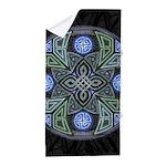 Celtic UFO Mandala Beach Towel