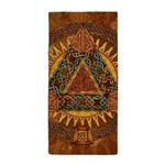 Celtic Pyramid Mandala Beach Towel