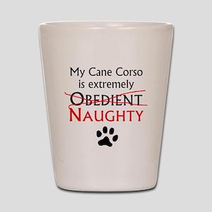 Naughty Cane Corso Shot Glass