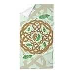 Celtic Nature Yin Yang Beach Towel