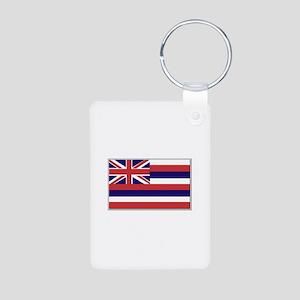 Flag of Hawaii Aluminum Photo Keychain