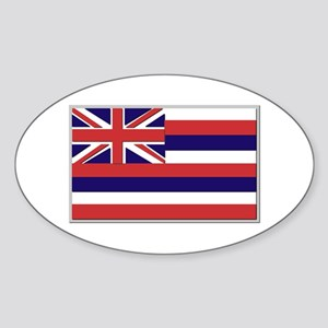 Flag of Hawaii Sticker (Oval)