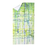 Electric Rain Abstract Beach Towel
