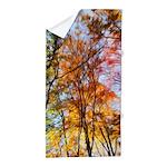 Autumn Trees Oil Painting Beach Towel