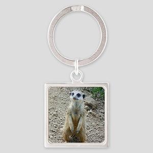 Meerkat Square Keychain