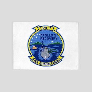 USS Guadalcanal Apollo 9 Recovery 5'x7'Area Rug