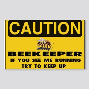Caution Beekeeper Men Sticker