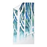 Winter Silhouette Watercolor Beach Towel