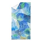 Aquatic Watercolor Beach Towel